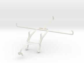 Controller mount for Xbox 360 & Dell Venue 8 in White Natural Versatile Plastic