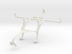 Controller mount for Xbox 360 & Sony Xperia M2 in White Natural Versatile Plastic