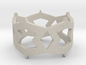 Rhombus and other shapes Ring Size 11 in Natural Sandstone