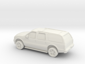 1/87 2003 Ford Excursion in White Natural Versatile Plastic
