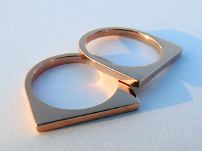 Layer Ring(s) (US Size 6.5) in 14k Rose Gold Plated Brass