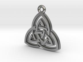 """Double Triquetra"" Pendant, Cast Metal in Natural Silver"