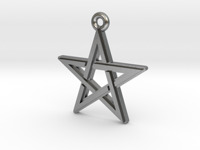 """Pentagram 2.0"" Pendant, Cast Metal in Natural Silver"