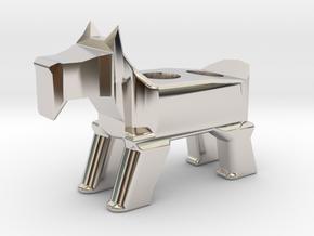 Terrier Pencil Holder in Platinum