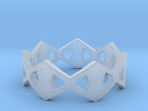 Rhombus Ring Size 8 in Smooth Fine Detail Plastic