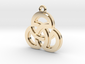 """""""Sacred Symmetry"""" Pendant, Cast Metal in 14k Gold Plated Brass"""