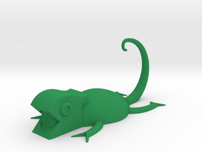 Chameleon Bathroom Accessory in Green Processed Versatile Plastic