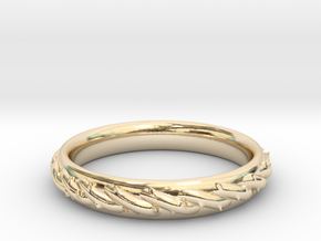 Ring with barbed wire in 14K Yellow Gold