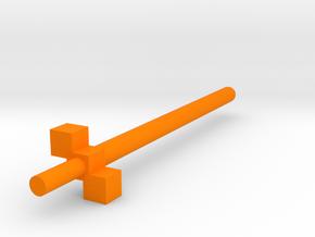 robot sword 3 cube hilt in Orange Processed Versatile Plastic