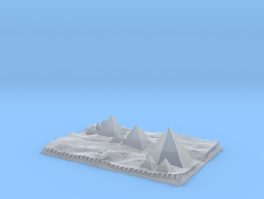 Pyramids Of Giza And Sphinx Model  in Smooth Fine Detail Plastic