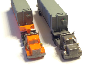 Semi Truck 1 Z Scale in Smooth Fine Detail Plastic