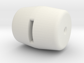 Knob 4 in White Natural Versatile Plastic