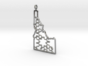 Hollow Idaho Oxytocin in Fine Detail Polished Silver