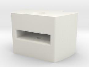Knob 3 in White Natural Versatile Plastic