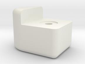 Knob 2 in White Natural Versatile Plastic