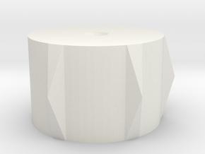 Knob 1 in White Natural Versatile Plastic