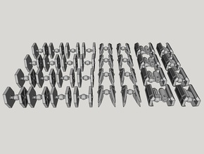 1:1000-scale Imperial Fighter Pack (32 pcs) in Smooth Fine Detail Plastic