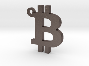 Bitcoin Symbol  Keychain in Stainless Steel