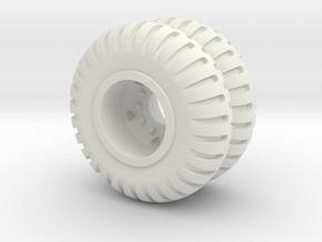 Maxi Carrier Wheel 6X in White Natural Versatile Plastic