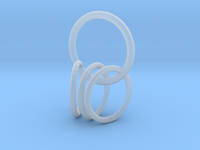 4 rings  in Smooth Fine Detail Plastic