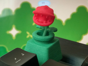 Piranha Plant Cherry MX Keycap in Green Strong & Flexible Polished
