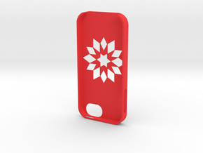Flower Iphone5 Case in Red Strong & Flexible Polished
