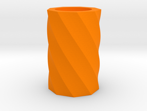 Twisted polygon vase in Orange Strong & Flexible Polished