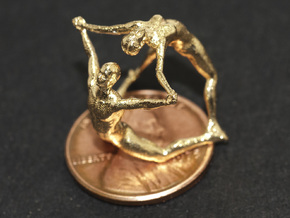 Hooped Figures - JOY -  30mm in Natural Brass