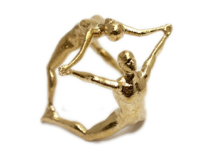 Hooped Figures - JOY - 40mm in Natural Brass