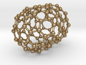 0080 Carbon Nanotube Capped (10,0) in Polished Gold Steel