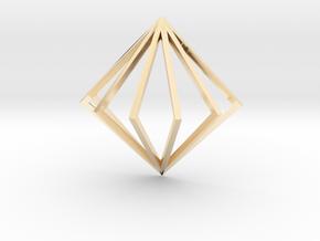 3D Fanned Diamond in 14K Yellow Gold