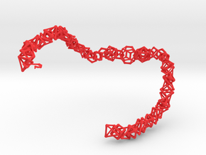 "Coral Bones choker - 19"" in Red Processed Versatile Plastic"