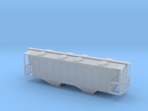 100 Ton Two Bay Covered Hopper - Nscale in Smooth Fine Detail Plastic