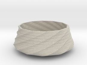 Twisted bowl in Natural Sandstone