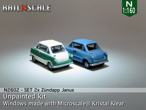 SET 2x Zündapp Janus (N 1:160) in Smooth Fine Detail Plastic