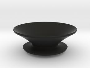 Round fruit bowl in Black Natural Versatile Plastic