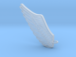 Wing pendant in Smooth Fine Detail Plastic