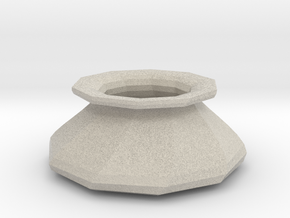 Twisted vase in Natural Sandstone