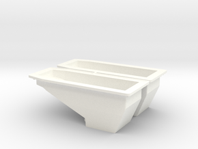 OIL PAN 1 in White Processed Versatile Plastic