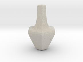 Honeycomb vase in Natural Sandstone