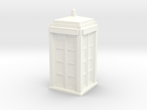The Physician's Blue Box in 1/72 scale (complete) in White Strong & Flexible Polished