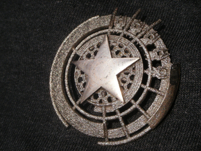 Captain America Shield: Prototype in Polished Bronzed Silver Steel