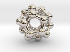 Fullerene C20 in Rhodium Plated