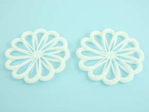 Flowerish 7 Big Hoop Earrings 55mm in White Natural Versatile Plastic