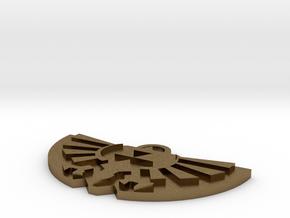 Zelda Logo Pendant in Natural Bronze