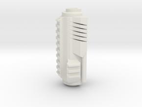 Airsoft AKS Upper Handle in White Natural Versatile Plastic