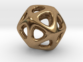 Icosahedron - 2.3cm in Natural Brass