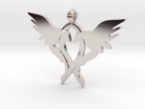 L.O.V.E. pendant regular size in Platinum