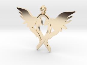 L.O.V.E. pendant regular size in 14k Gold Plated Brass