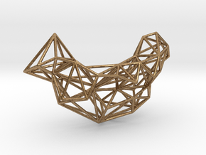 Mesh Necklace no.1 in Natural Brass